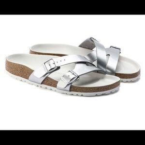 New Birkenstock YAO two-strap sandal SILVER 39